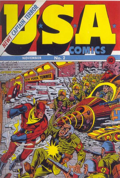 U.S.A. Comics (1941) #2, cover by Joe Simon.