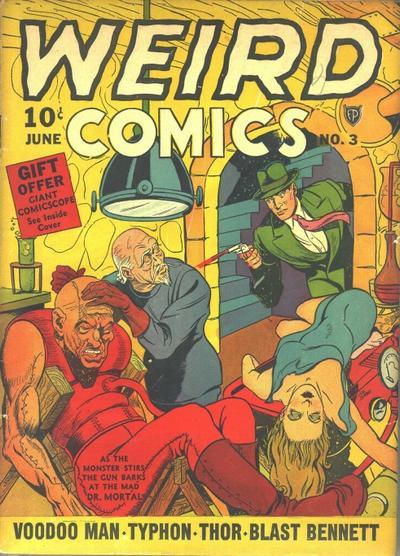 Weird Comics (1940) 3, cover by Joe Simon.