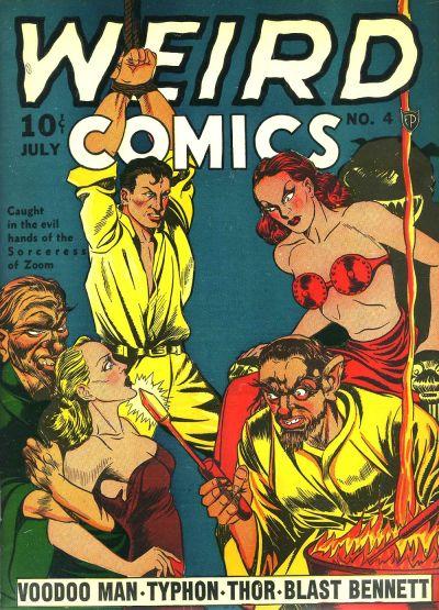 Weird Comics (1940) #3, cover by Joe Simon.