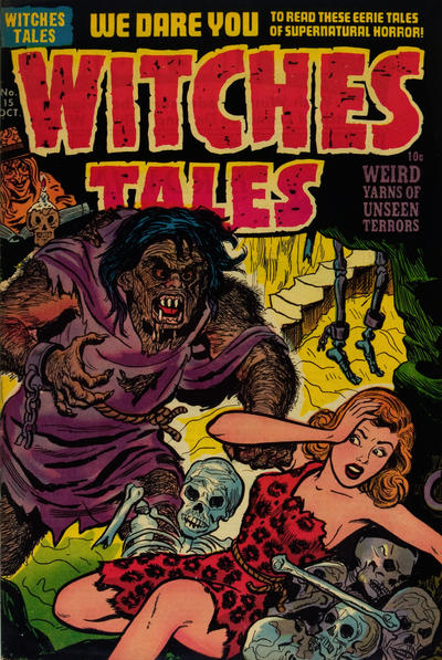 Witches Tales (1951) #15, cover by Joe Simon.