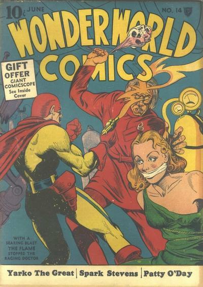 Wonderworld Comics (1939) #14, cover by Joe Simon.