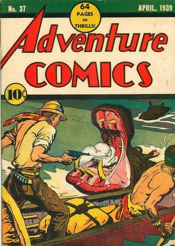Adventure Comics (1938) #37, cover by Creig Flessel.