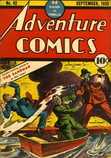 Adventure Comics (1938) #42, cover by Creig Flessel.