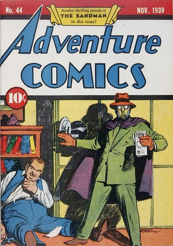 Adventure Comics (1938) #44, cover by Creig Flessel.