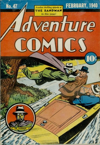 Adventure Comics (1938) #47, cover by Creig Flessel.