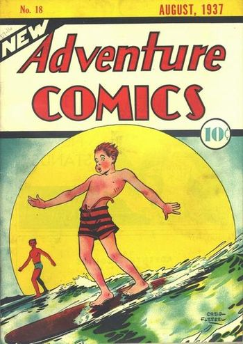 New Adventure Comics (1937) #18, cover by Creig Flessel.