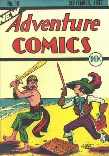 New Adventure Comics (1937) #19, cover by Creig Flessel.
