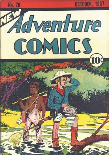 New Adventure Comics (1937) #20, cover by Creig Flessel.