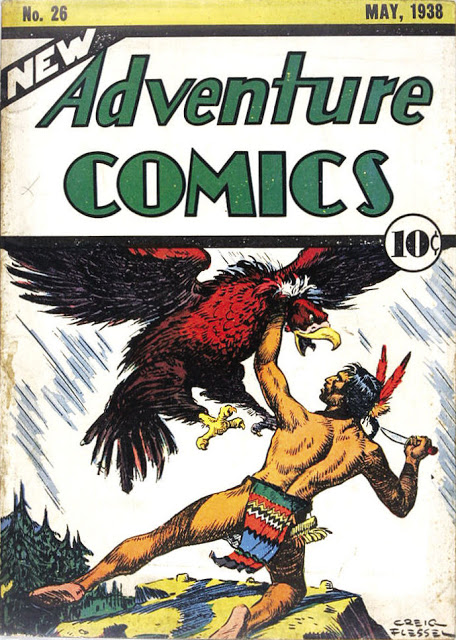 New Adventure Comics (1937) #26, cover by Creig Flessel.