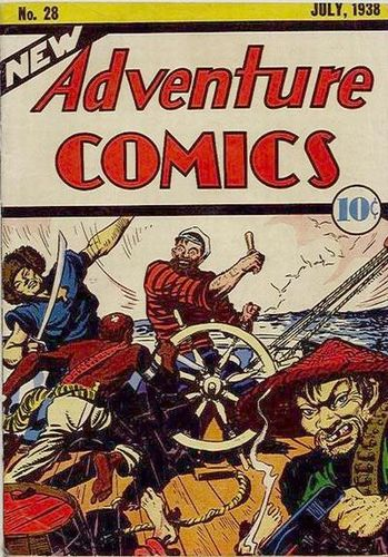 New Adventure Comics (1937) #28, cover by Creig Flessel.