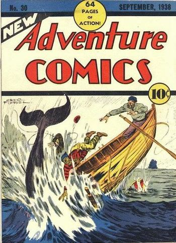 New Adventure Comics (1937) #30, cover by Creig Flessel.
