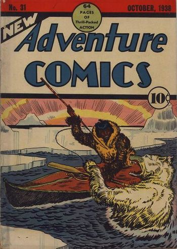 New Adventure Comics (1937) #31, cover by Creig Flessel.