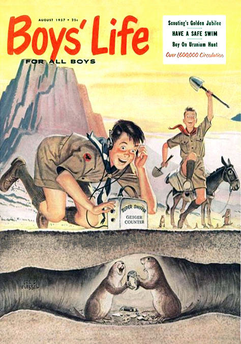 Boys' Life (August 1957), cover by Creig Flessel.