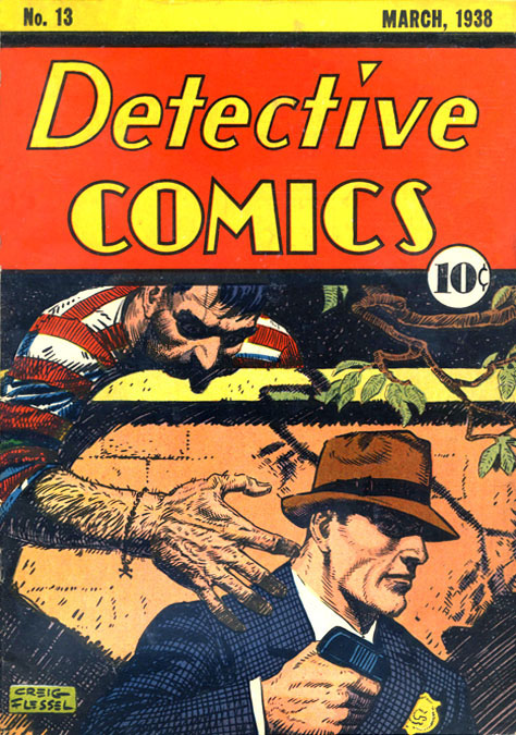 Detective Comics (1937) #13, cover by Creig Flessel.