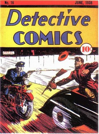 Detective Comics (1937) #16, cover by Creig Flessel.