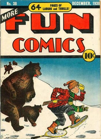 More Fun Comics (1936) #38, cover by Creig Flessel.