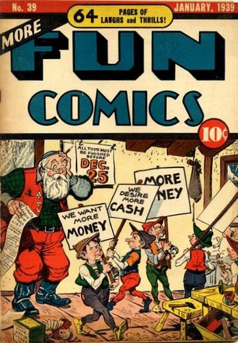 More Fun Comics (1936) #39, cover by Creig Flessel.