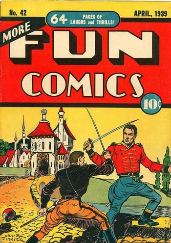More Fun Comics (1936) #42, cover by Creig Flessel.