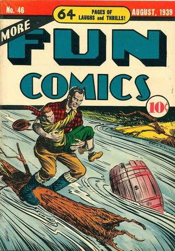 More Fun Comics (1936) #46, cover by Creig Flessel.