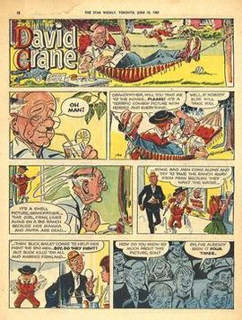A full-color Sunday edition of  David Crane  (June 10, 1961) by Creig Flessel.