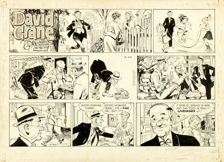 A B&W weekday edition of  David Crane  (April 22, 1962) by Creig Flessel.