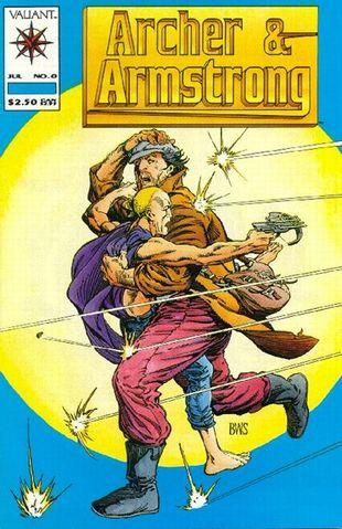 Archer & Armstrong (1992) #0, written by Jim Shooter.