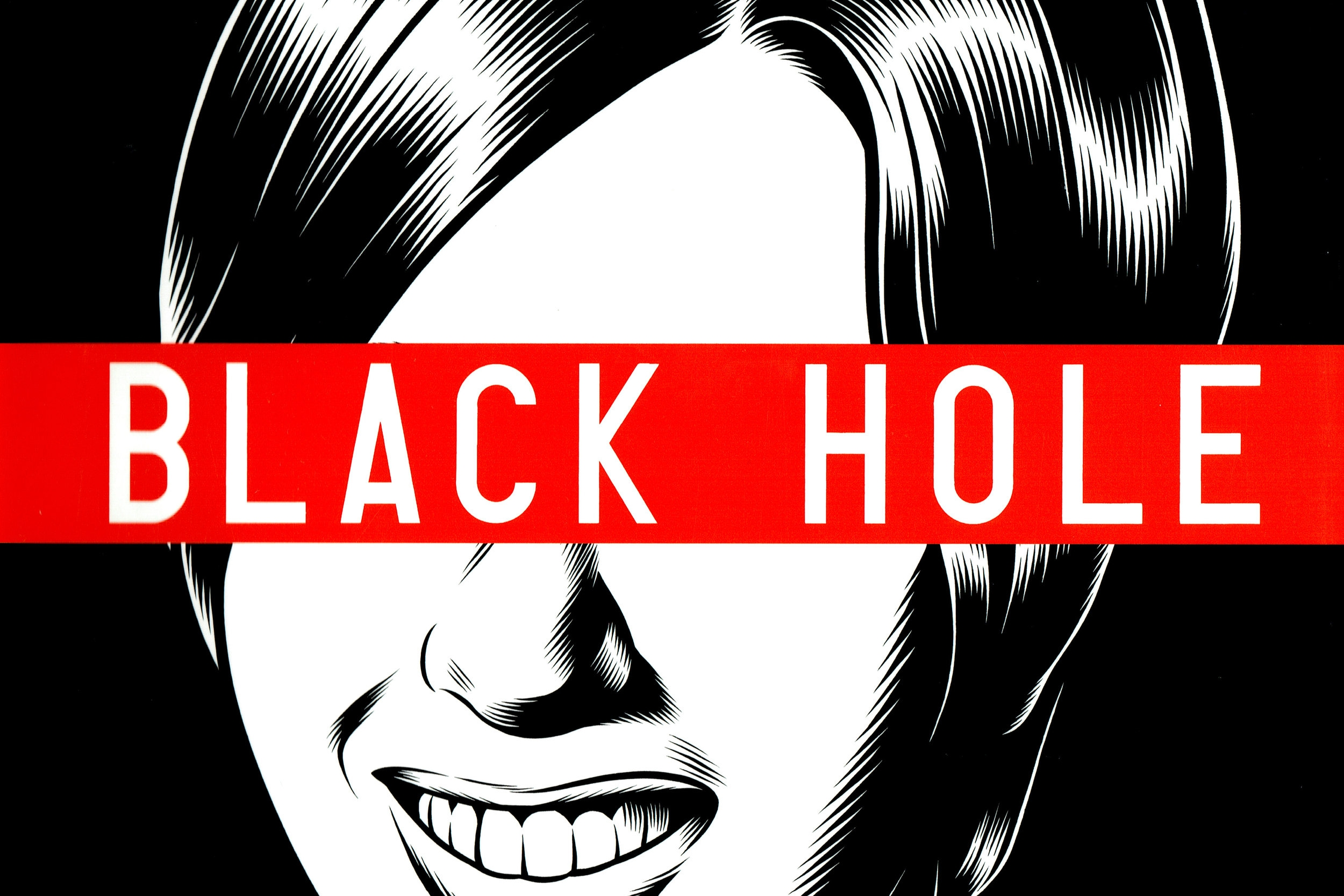Fade to Black & White Under the Plague Moonlight: A Review of Charles Burns' Black Hole   Written by O'Brian Gunn