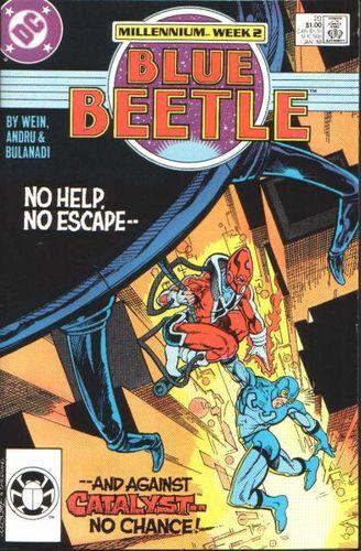 Blue Beetle (1986) #20, written by Len Wein.