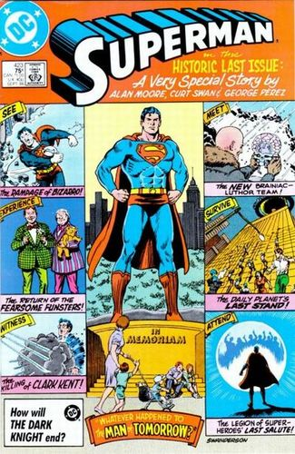 Superman (1939) #423, cover penciled by Curt Swan & inked by Murphy Anderson.