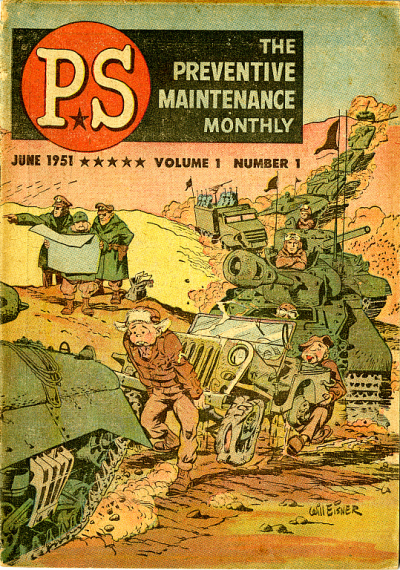 P.S. Magazine (1951) #1, cover by Will Eisner. Anderson worked on the interior of this first issue.