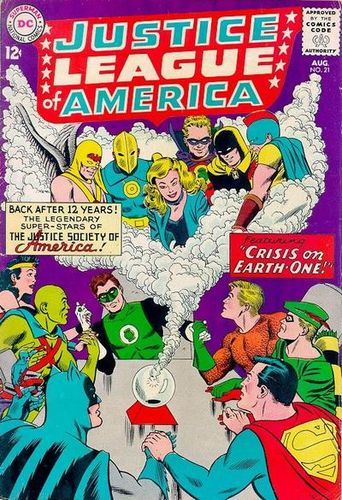 Justice League of America (1960) #21, cover penciled by Mike Sekowsky & inked by Murphy Anderson.