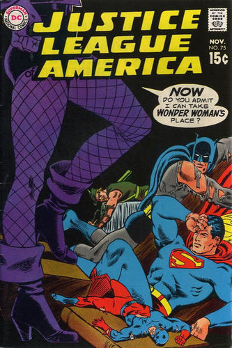 Justice League of America (1960) #75, cover penciled by Carmine Infantino & inked by Murphy Anderson.