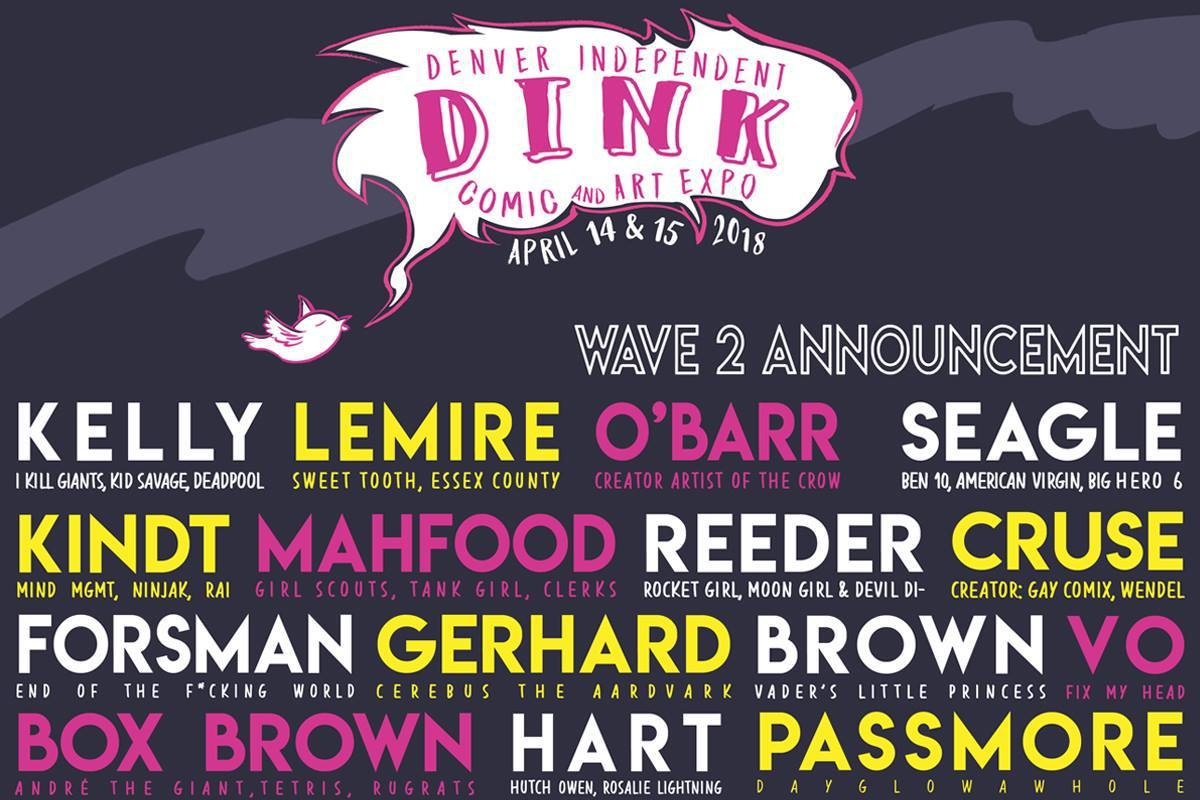 DINK 2018 Is Coming: Celebrate Independent Comix with O'Barr, Gerhard, Kindt & Cruse   Written by Neil Greenaway