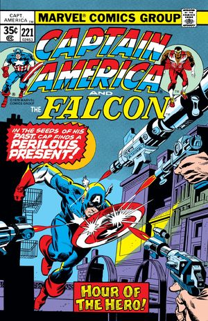 Captain America (1968) #221,cover penciled by Gil Kane & inked by Tony DeZuniga.