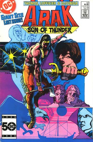 Arak (1981) #50, cover by Tony DeZuniga.