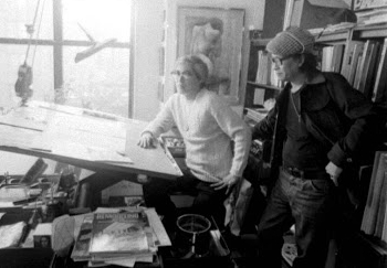 Tony DeZuniga with Alfredo Alcala in New York, 1979.