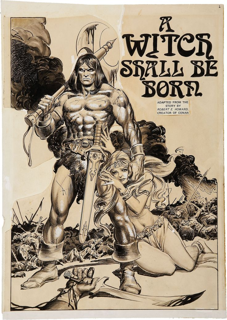 """Conan """"A Witch Shall Be Born"""" page penciled by John Buscema & inked by Tony Dezuniga."""