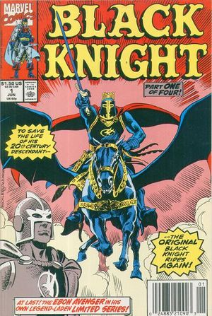 Black Knight (1990) #1, cover penciled by Rich Buckler & inked by Tony DeZuniga.