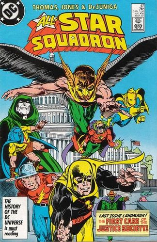 All-Star Squadron (1981) #67, cover by Tony DeZuniga.