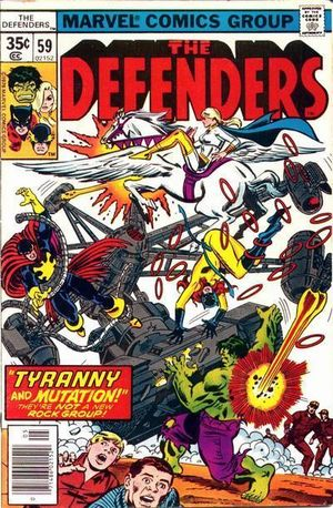 Defenders (1972) #59, cover penciled by George Perez & inked by Tony DeZuniga.