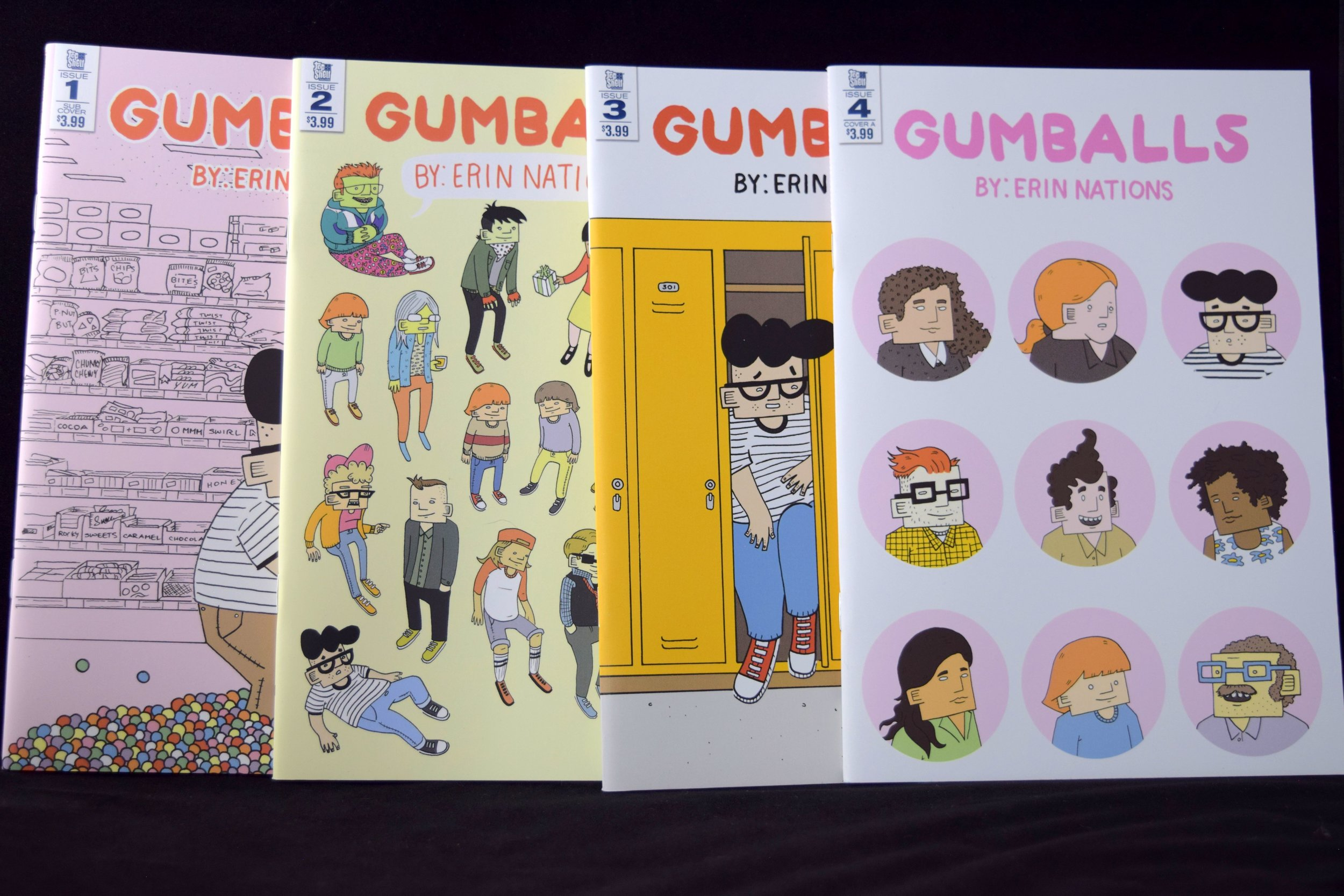 Gumballs #1, #2, #3, &#4 from Erin Nations.