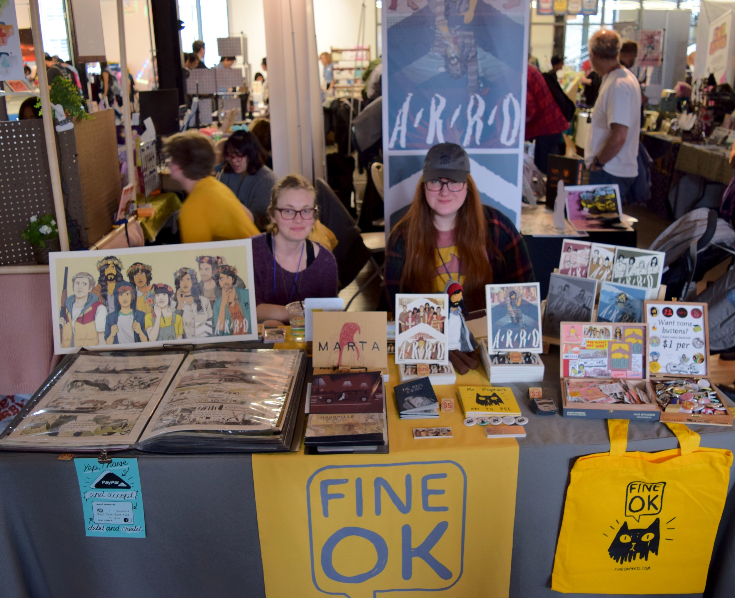 The ladies of  Fine Ok Press  at DINK 2018.