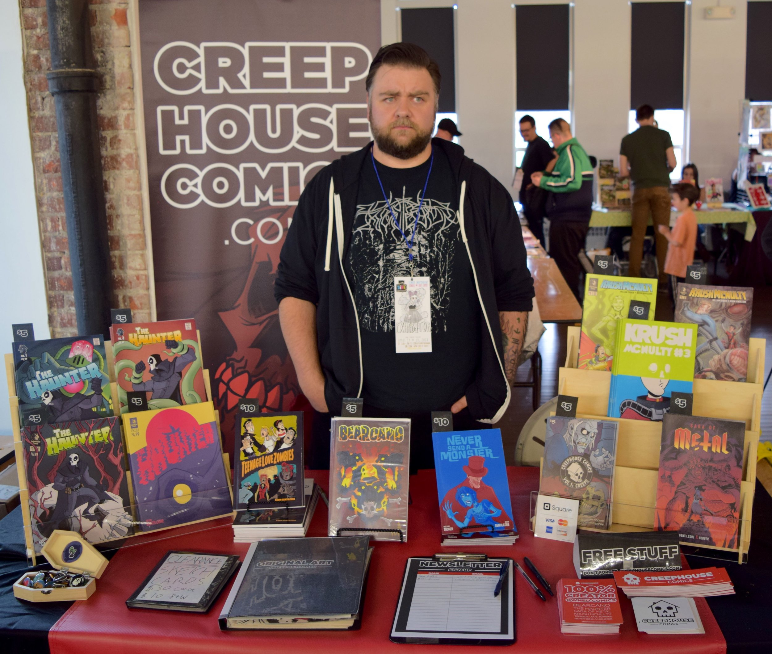 Kevin Gentilcore of CreepHouse Comics at DINK 2018.