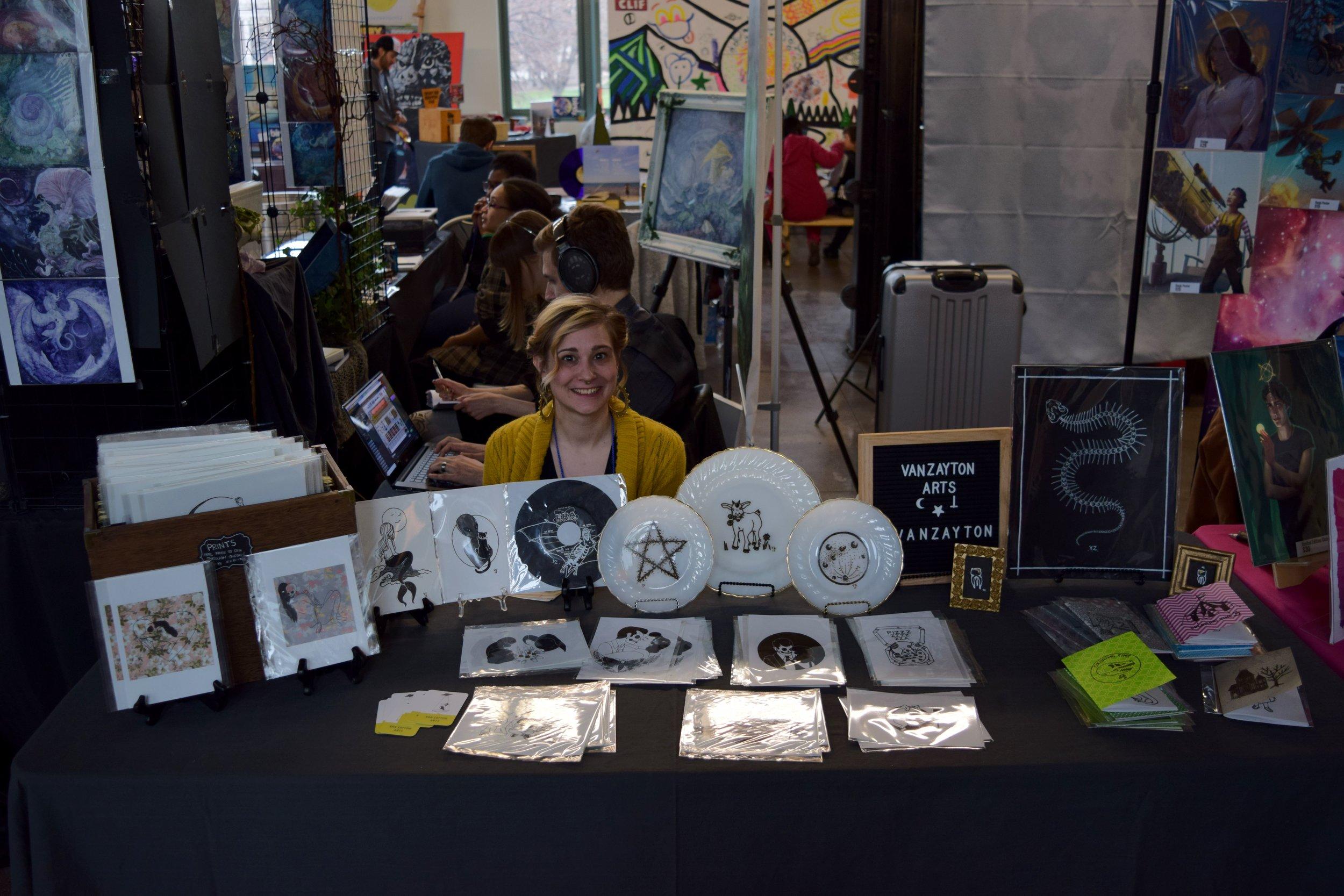 Aubrie Van Zandt  of Van Zayton Arts at DINK 2018.
