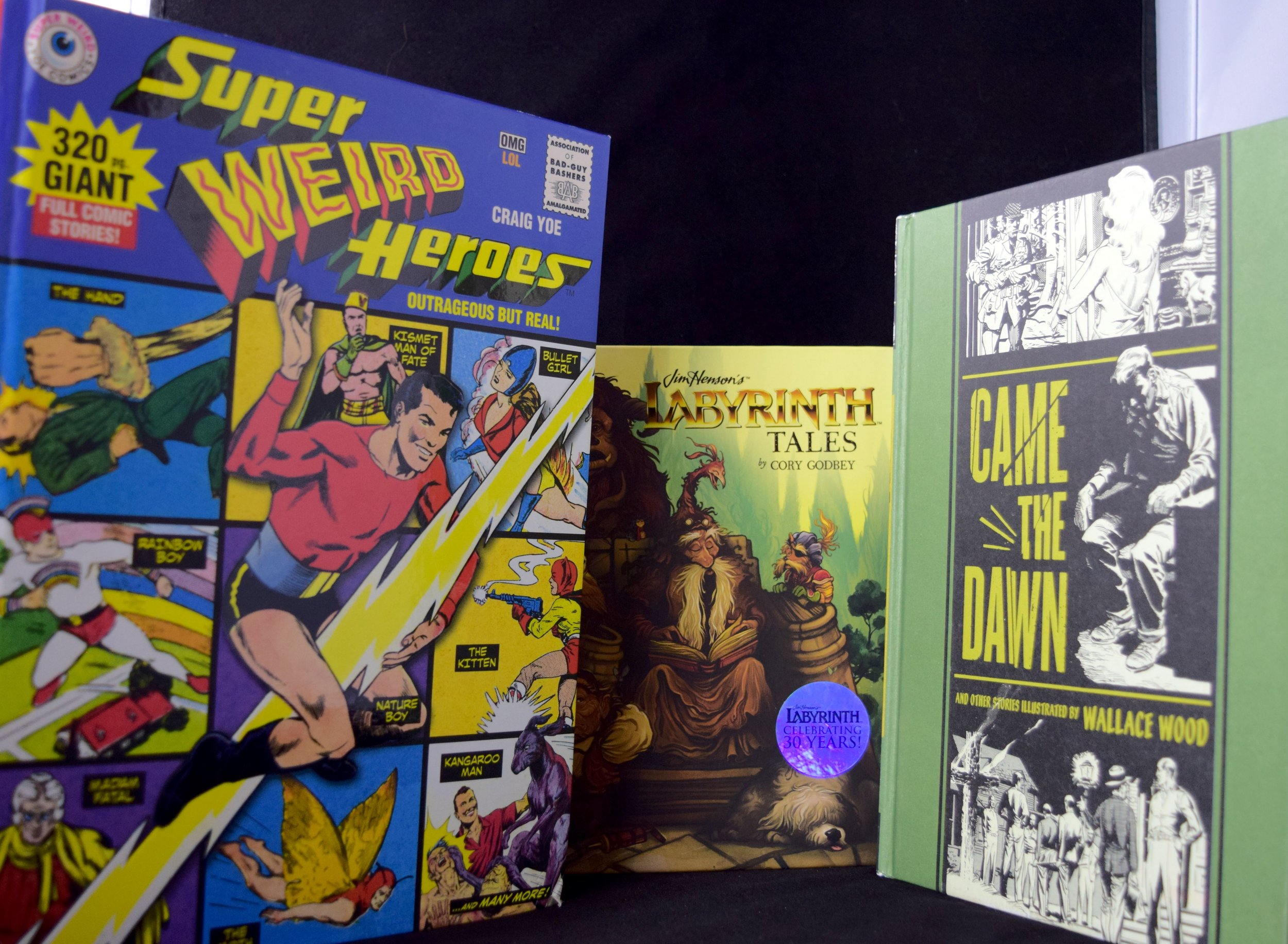 Hardcovers from I Want More Comics.