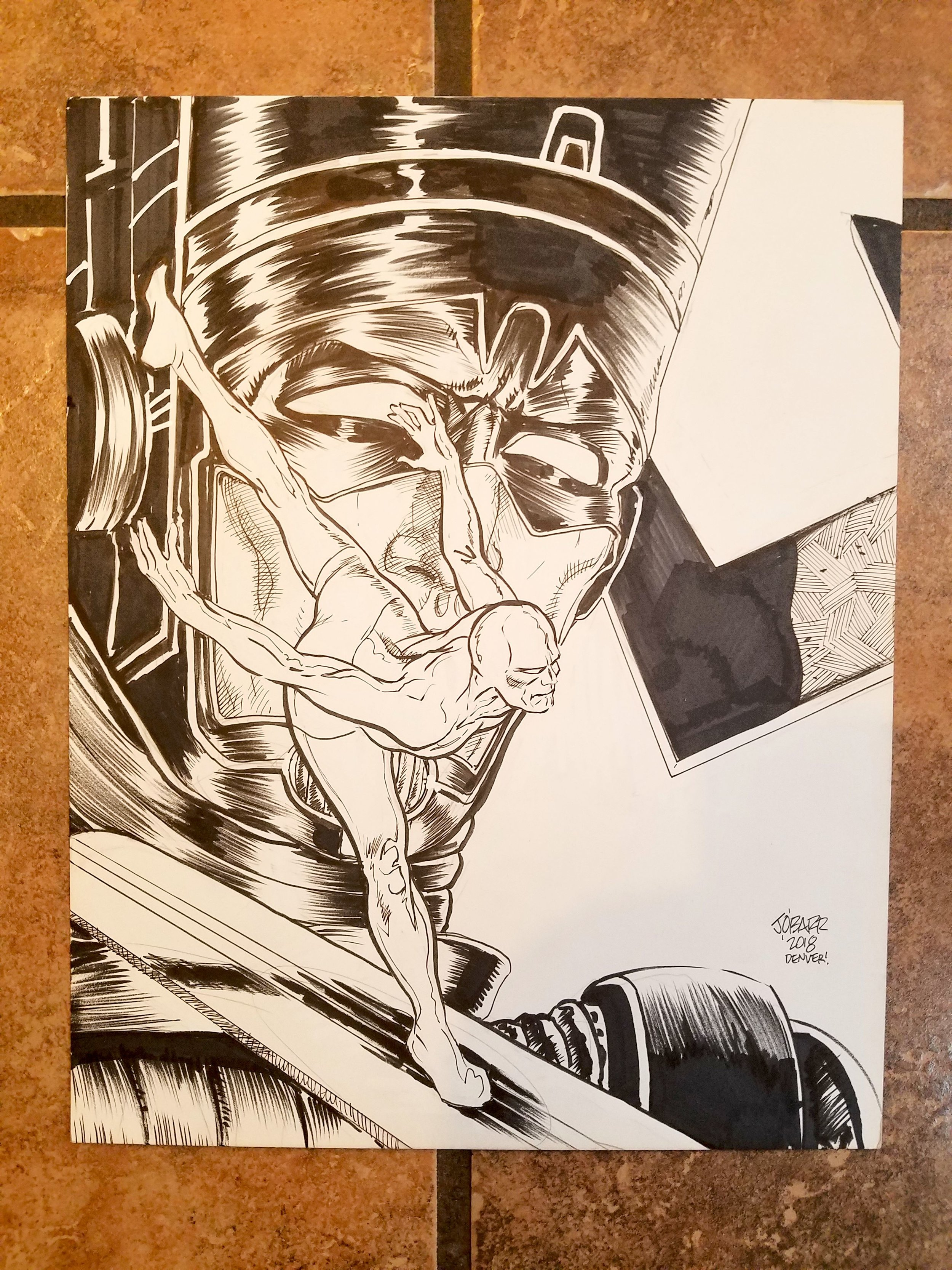 A commission from James O'Barr done for me at DINK 2018.