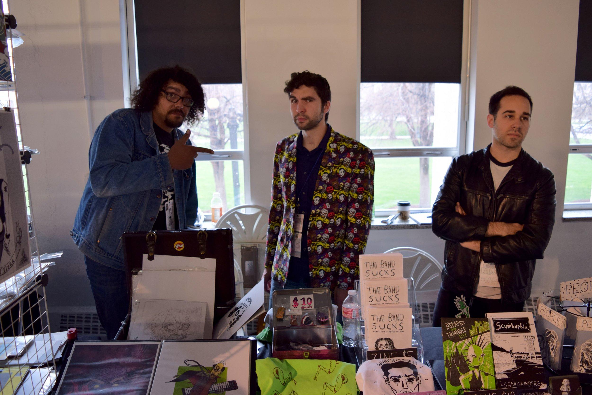 Joe Oliver, Elijah Taylor, Sam Grinberg at DINK 2018.