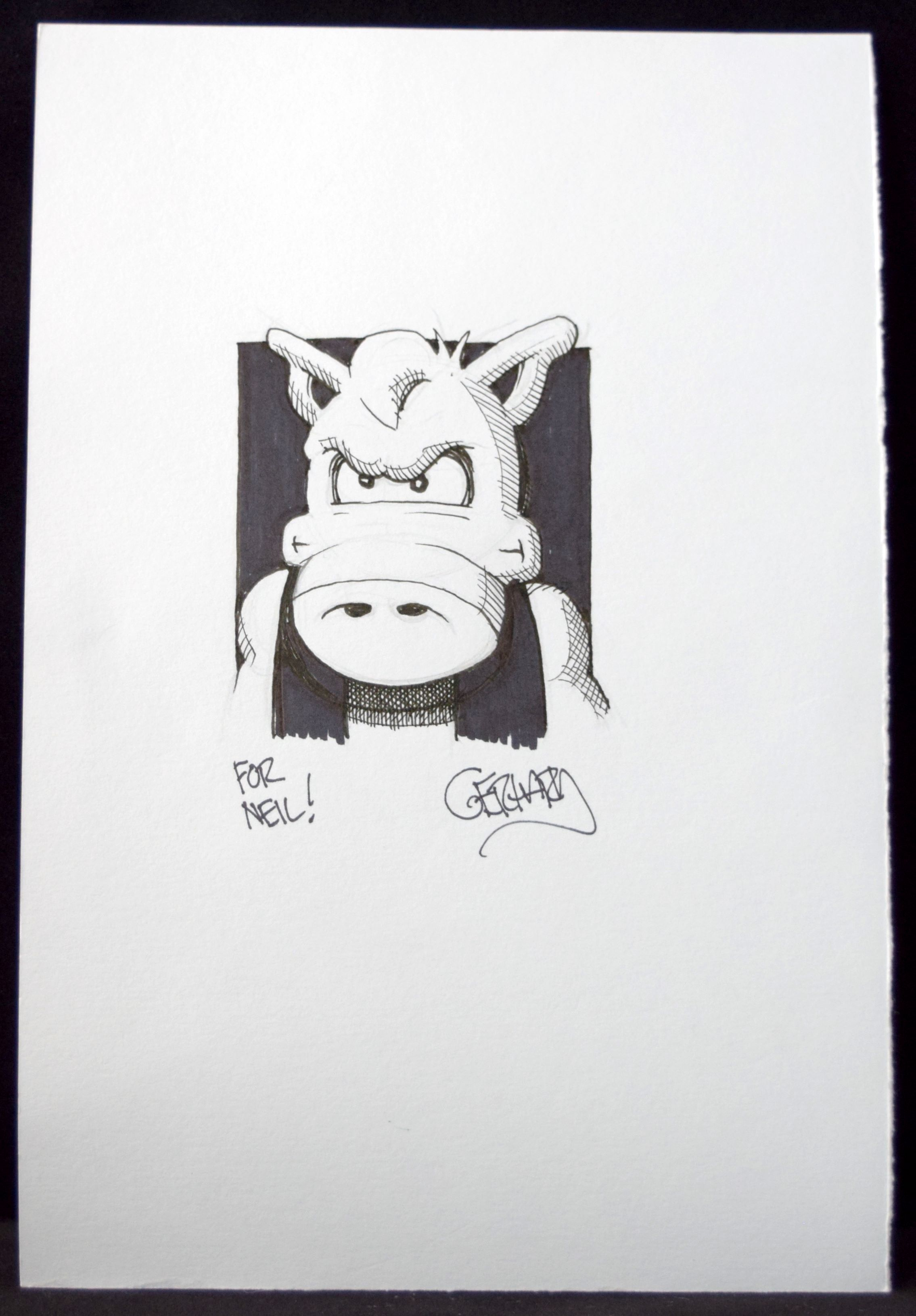 A commission of Cerebus from Gerhard.