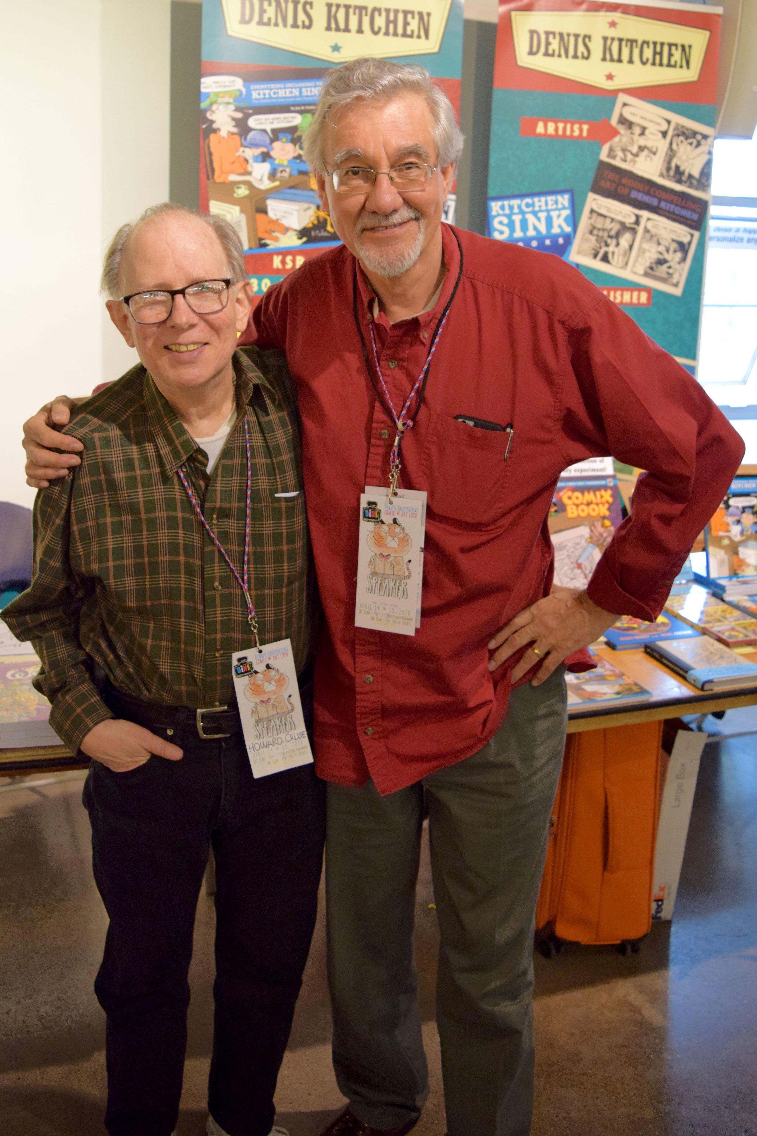 Howard Cruse & Denis Kitchen at DINK 2018.