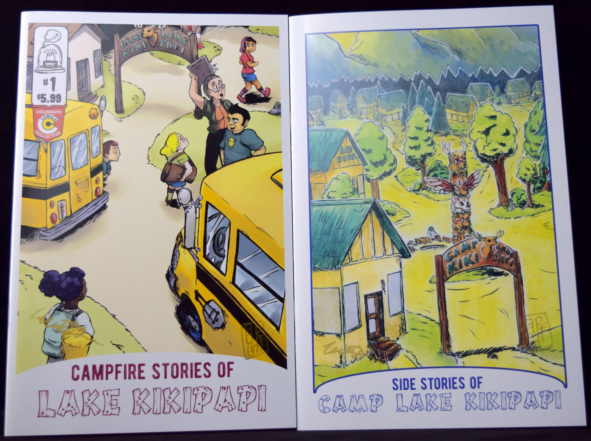 Campfire Stories of Lake Kikipapi    #1  & the new issue   Side Stories of Camp Lake Kikipapi  from Bill & Pepper DeLuca.
